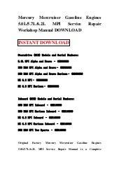 Mercury Mariner Outboard 70 75 80 90 100 115 Hp Service border=