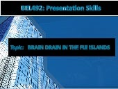 Brain-Drain in Fiji