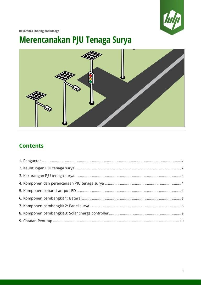 Merencanakan pju tenaga surya penerangan jalan umum ccuart Choice Image