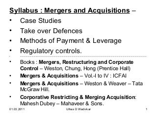 Mergers & acquisitions for MBA