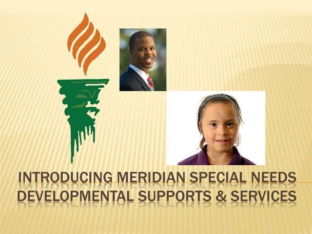 Meridian Special Needs Program Presentation