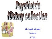 PSYCHIATRIC HISTORY COLLECTION