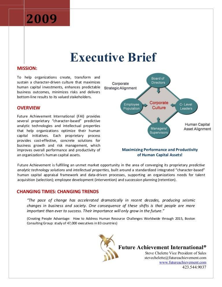 merit profile executive brief