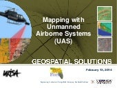 Mapping with Unmanned Airborne Systems (UAS)
