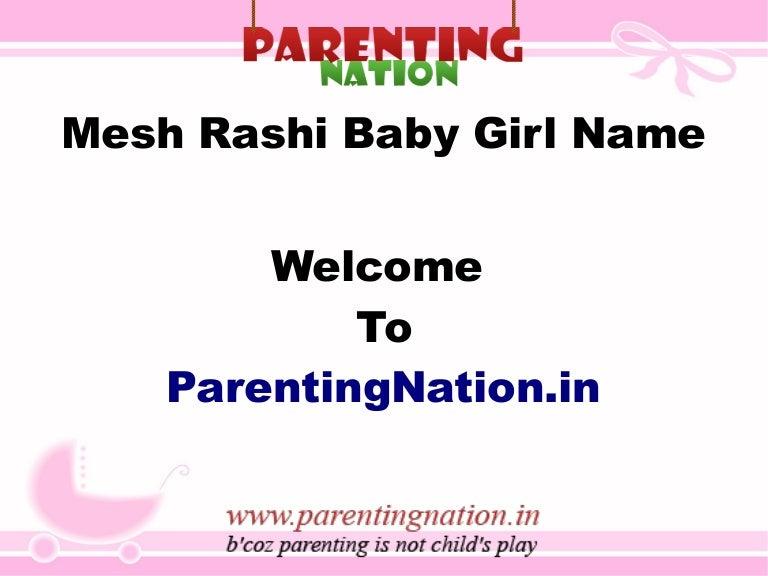 Mesh Rashi Baby Girl Names With Meanings