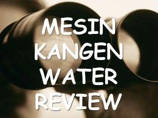 Manfaat Mesin Kangen Water