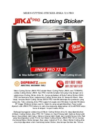 CALL/WA 0812-9766-7579 Jual Cutting Plotter Jinka 721