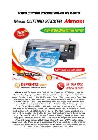 CALL/WA 0812-9766-7579 Harga Mesin Cutting Sticker Buatan Jepang