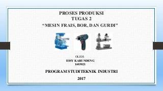 Presentasi Mesin Frais, Bor, Gurdi