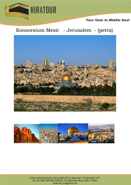 Mesir   jerusalem - (petra) konsorsium