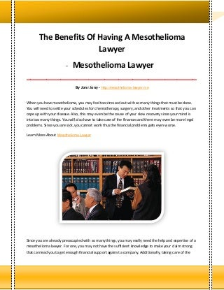 mesothelioma claim