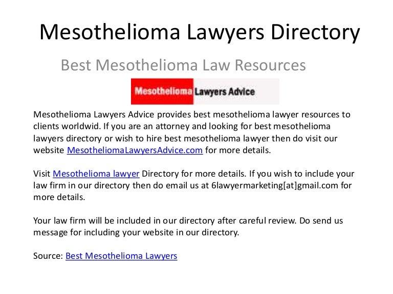 Mesothelioma Lawyer Directory Mesotheliomalawyersadvice Com
