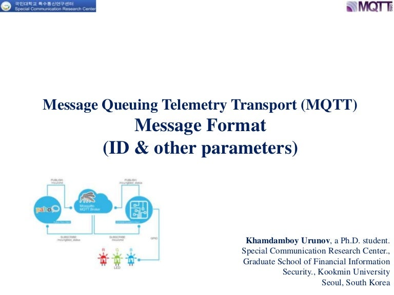 Message queuing telemetry transport (mqtt) id and other type paramete…