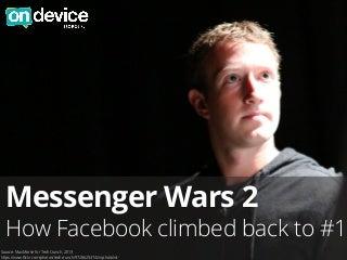 Messenger wars 2: How Facebook climbed back to number 1