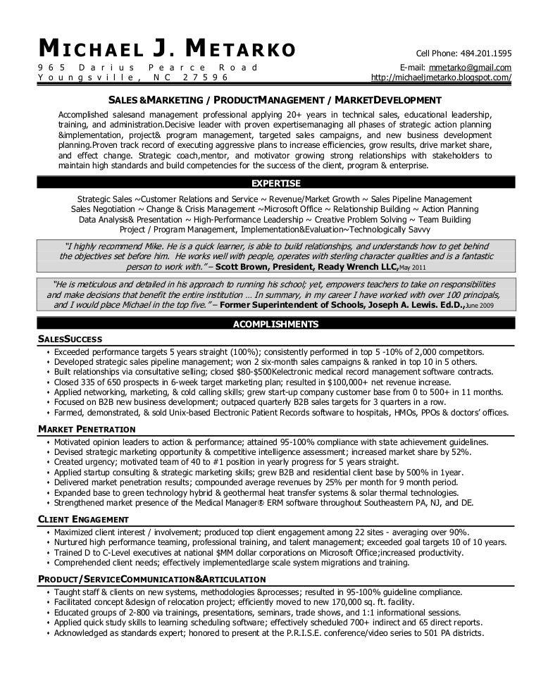 metarko sales mgmt resume 9 2011