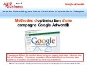 Comment optimiser campagne Google adwords ?