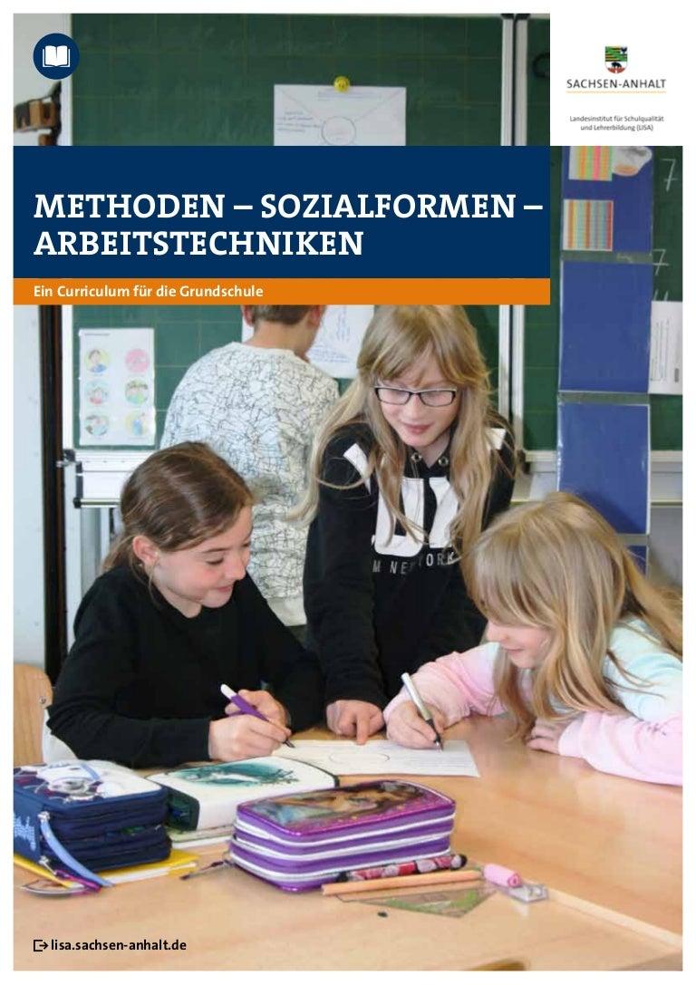 Methoden Sozialformen Arbeitstechniken Ein Curriculum