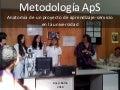 Metodologia ApS: Anatomia de un proyecto de aprendizaje-servicio en la Universidad