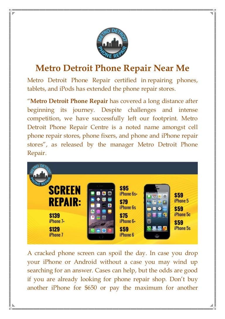 Metro Detroit Phone Repair Near Me