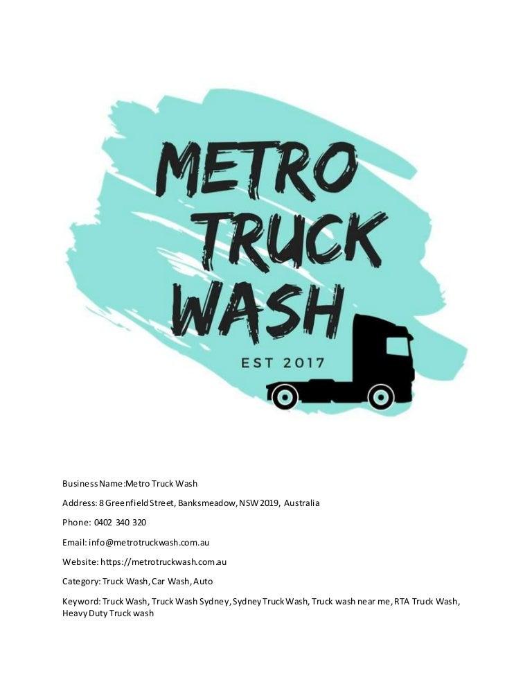 Truck Car Wash Near Me >> Metro Truck Wash