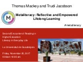 Metaliteracy: Reflective and Empowered Lifelong Learning