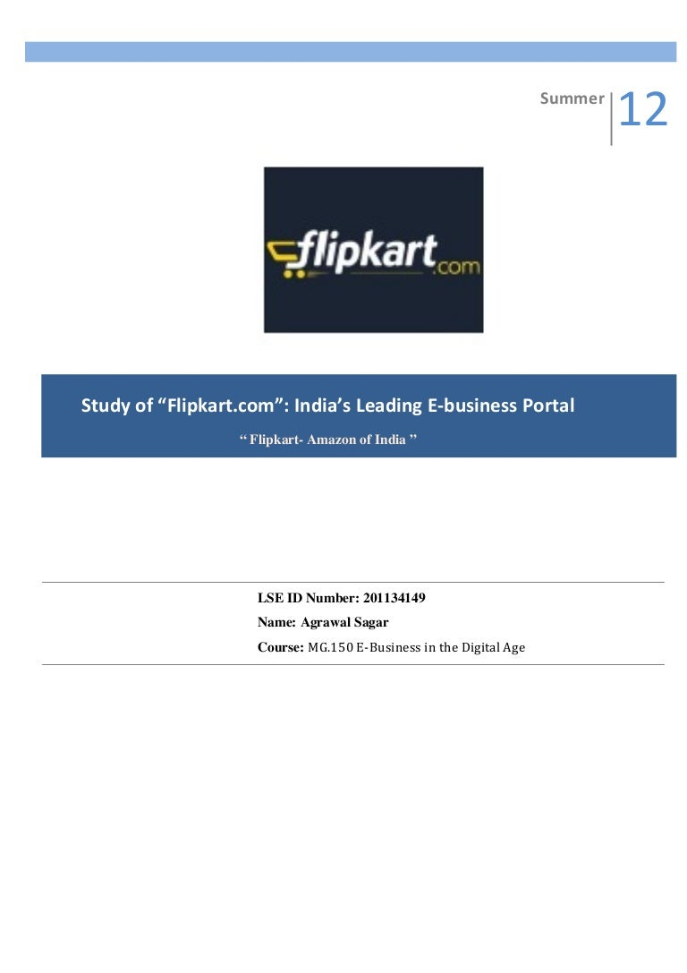 study of flipkart com s leading e business portal