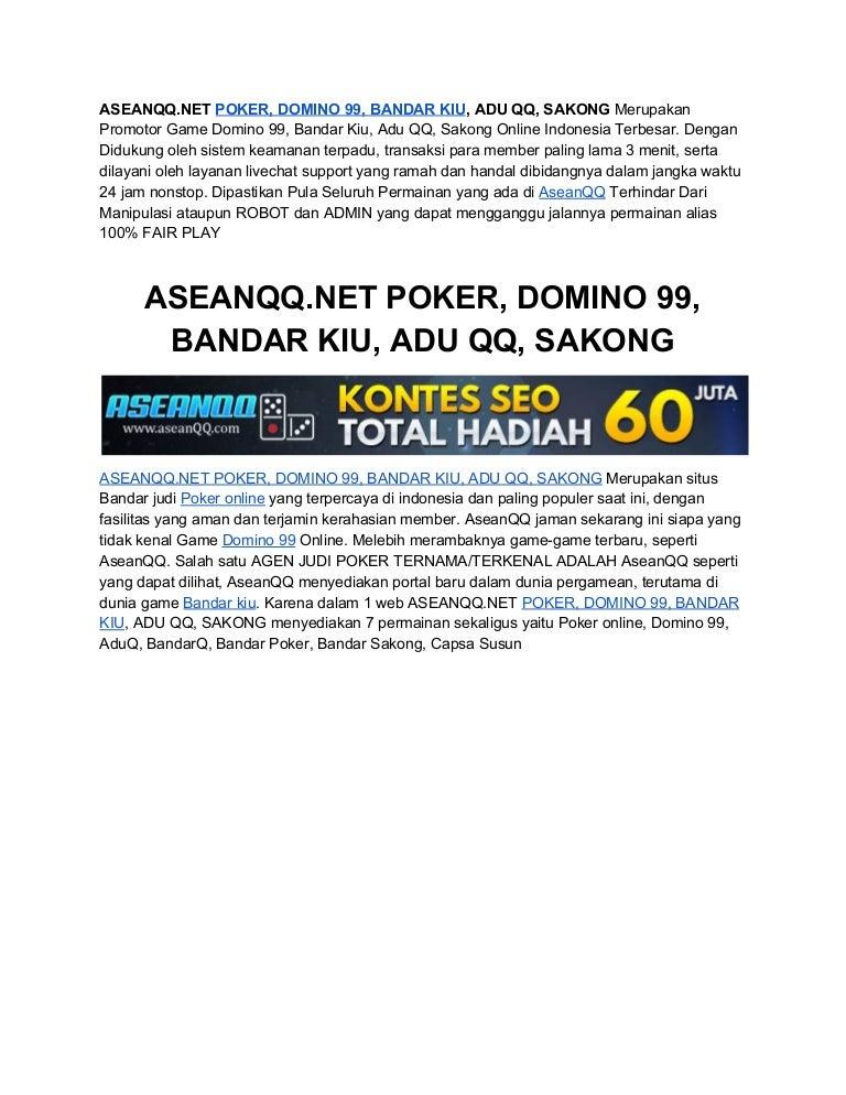 Aseanqq Net Poker Domino 99 Bandar Kiu Adu Qq Sakong