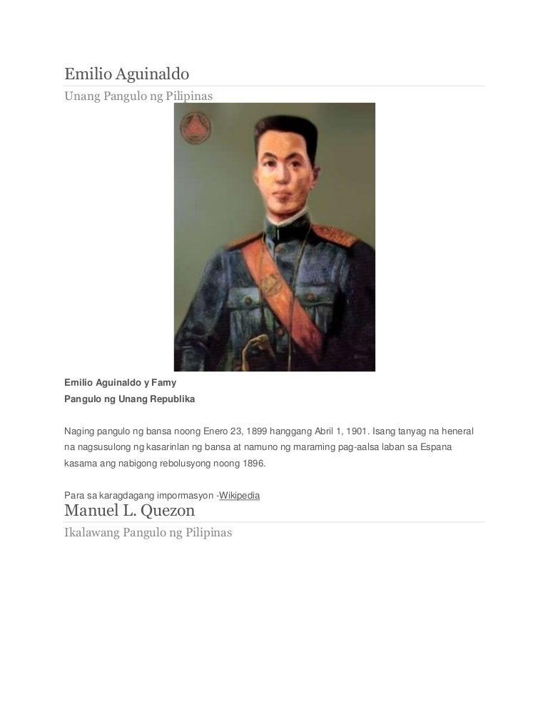 DOC) Pagsisiyasat sa mga nagawa ng mga naging Pangulo ng Pilipinas