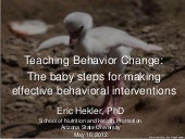 Agile Science and Teaching Behavior Change