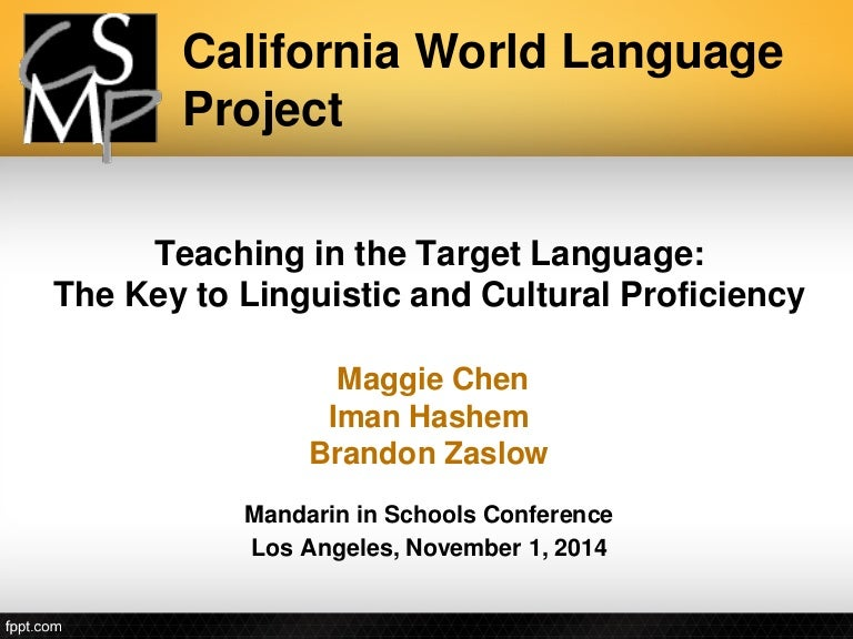 Teaching in the Target Language - Brandon Zaslow