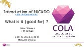 What is it (good for)? - MiCADO webinar No.1/4 - 09/2019