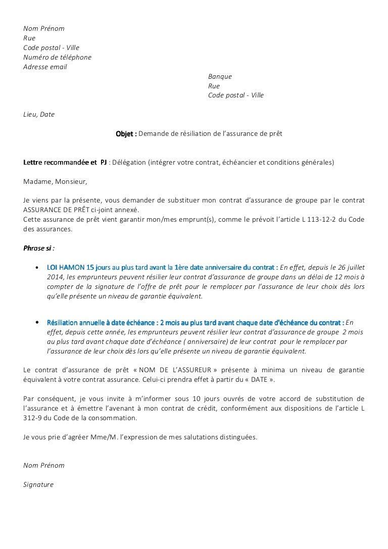 Michael Merlen Modele Lettre Resiliation Assurance Emprunteur Mickael
