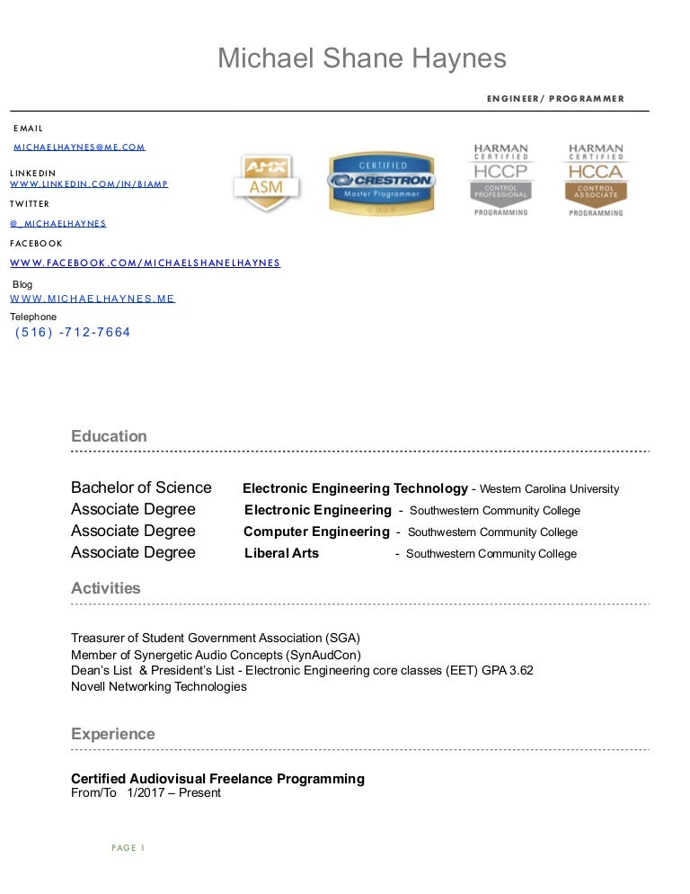 Resume Writing Services Nyc Word Michael Shane Haynes Resume What To Put On A College Resume with Google Resume  Engineering Intern Resume Excel