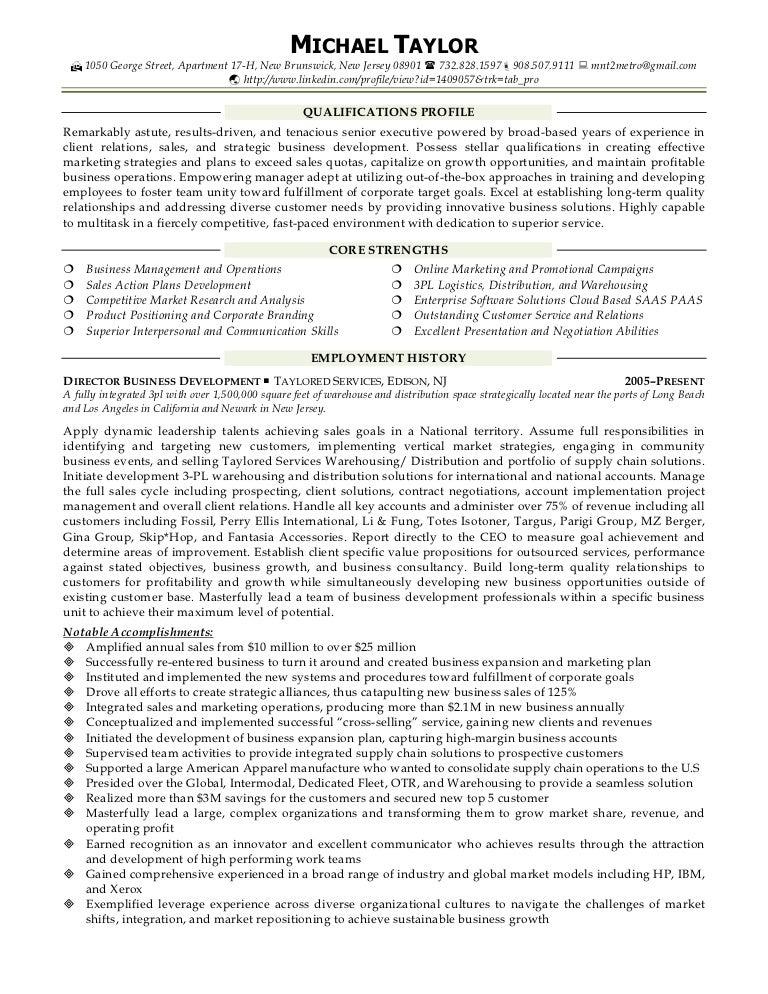 Saas Sales Resume A Good Owner Manual Example