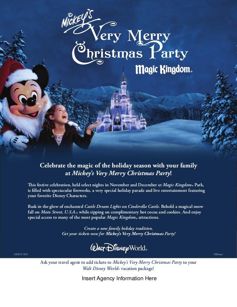 Mickeys Very Merry Christmas Party 2021 Brochure Mickeys Very Merry Christmas Party