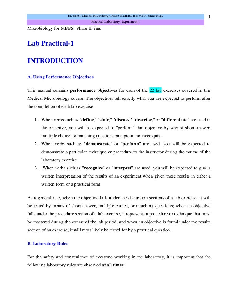 lab report microbiology essay Unknown lab report daisy m black december 3, 2013 introduction this study is the determination of the unknown bacterium that was given by microbiology lab professor.