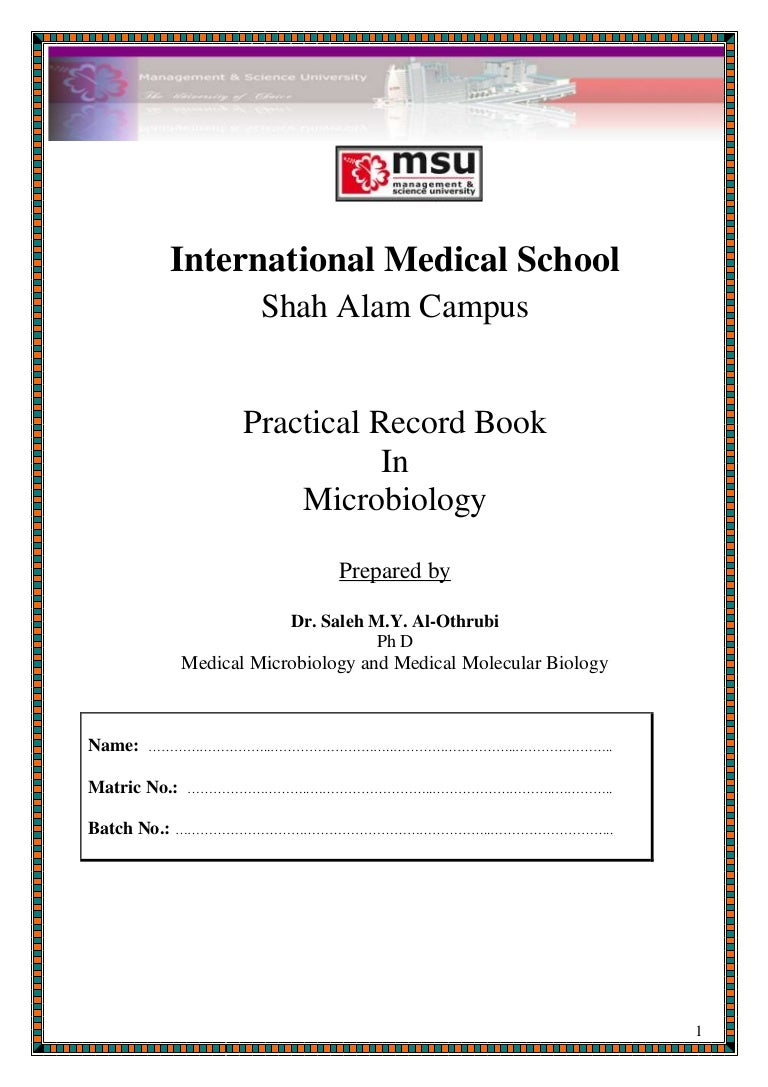 Microbiology (lab report 1 format)