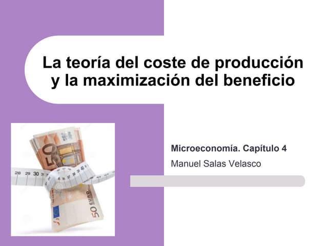 Mcroeconomía Cap. 4 Costes y beneficio