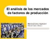 Microeconomía Cap. 8 Mercados factores