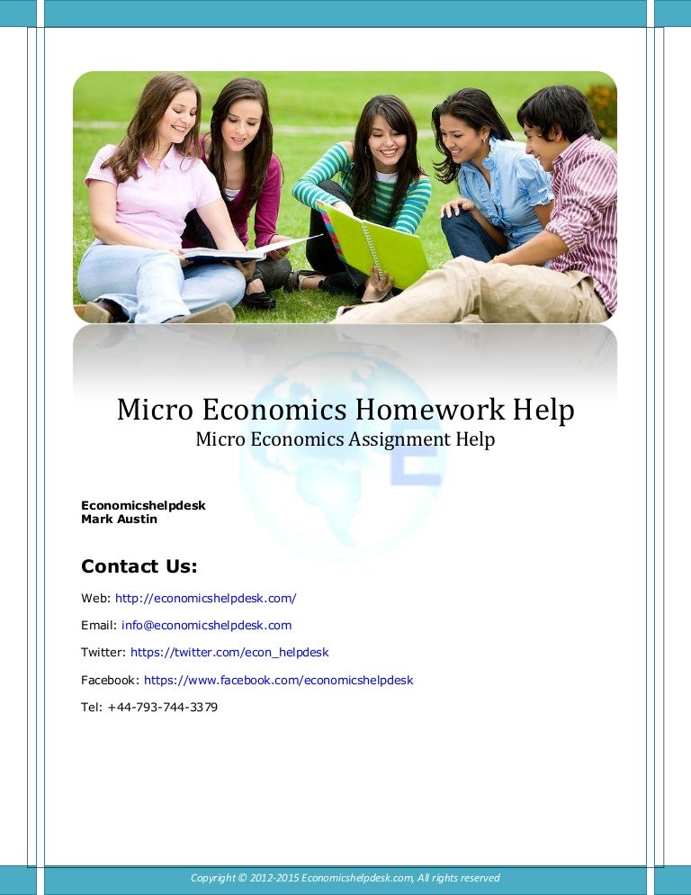 Economics coursework help