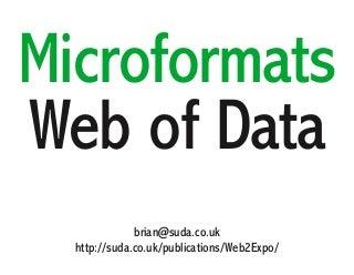 Microformats a Web of Data
