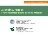An Introduction to Microinsurances