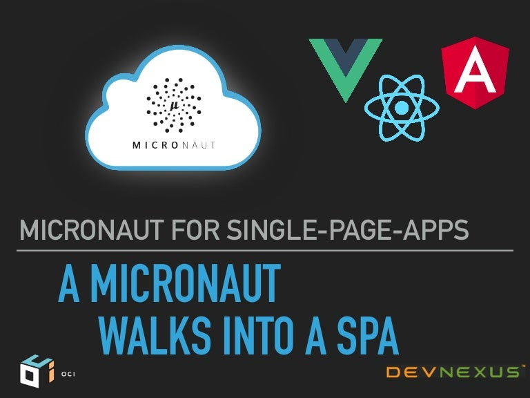 Micronaut For Single Page Apps