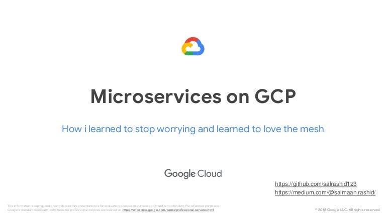 Google Cloud and Microservices - a practical approach on GCP