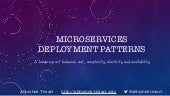 Microservices deployment patterns