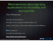 Kong Summit 2018 - Microservices: decomposing applications for testability and deployability