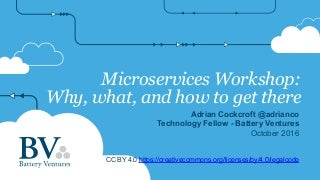 Microservices Workshop All Topics Deck 2016