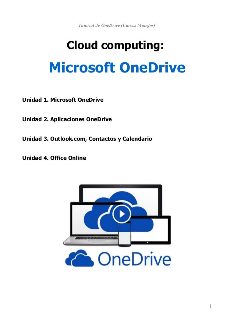 Manual básico sobre Microsoft Onedrive (trabajo en la Nube - 2016)