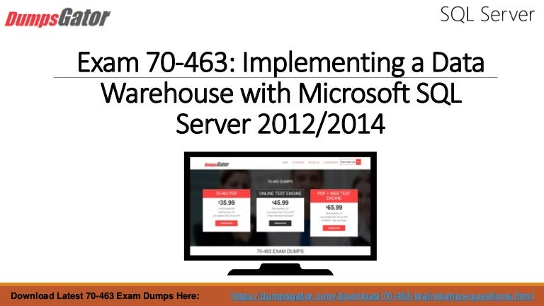 Real Microsoft 70 463 Exam Questions Dumps With Updated 70 463 Web Te