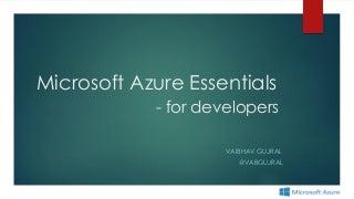 Microsoft Azure essentials